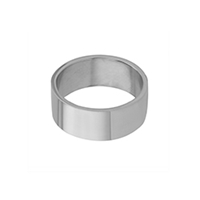 Flat Stainless Steel Wide Ring
