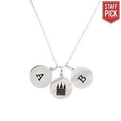 Temple Initial Charm Necklace