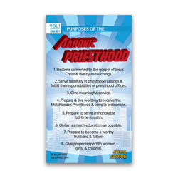 Purposes of the Aaronic Priesthood Pocket Card duties of the aaronic priesthood, aaronic priesthood pocket card, priesthood card, priesthood pocket card