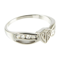 Bow CTR Ring - Silver