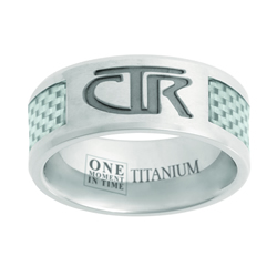 White Titanium & Carbon Fiber CTR Ring