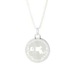 Massachusetts Mission Necklace - Silver/Gold