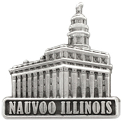 Nauvoo Illinois Temple Pin - Silver