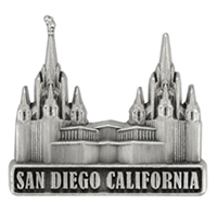 San Diego Temple Pin - Silver