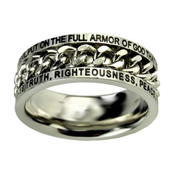 Armor of God Chain Ring